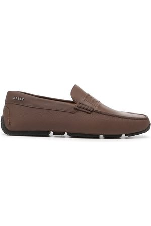 Bally Men Loafers - Embossed-logo leather driving shoes