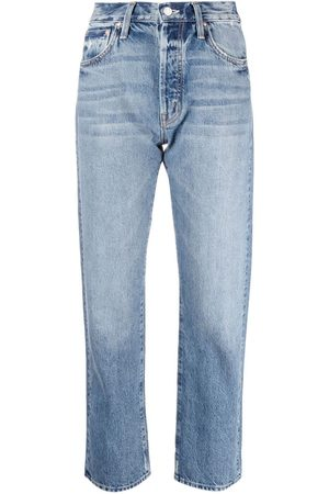 Mother Women Straight - Mid-rise cropped straight-leg jeans