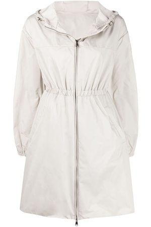 Moncler Women Coats - Belted hooded coat