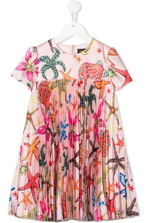 VERSACE Girls Dresses - Pleated embroidered dress