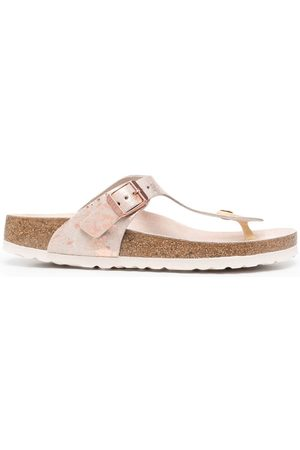 Birkenstock Women Slippers - Marble-print flip flops