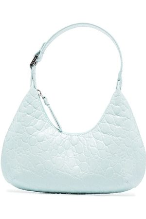 By Far Women Tote Bags - Baby Amber crocodile-pattern bag