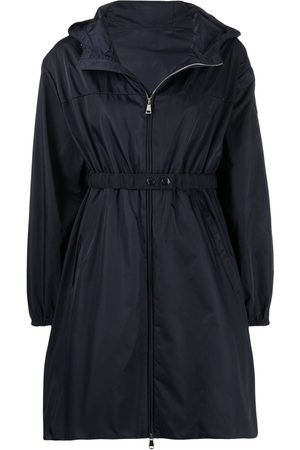 Moncler Waist-strap hooded coat