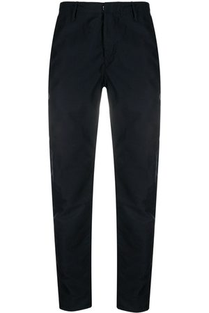 Incotex Men Slim Trousers - Slim-fit satin cotton tapered trousers