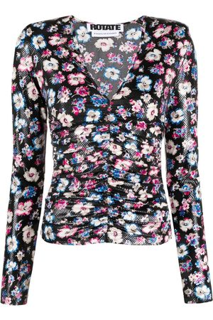 ROTATE Women Tops - Floral-print ruched top