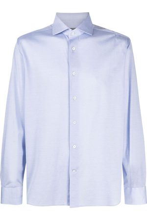 corneliani Long-sleeve curved-hem shirt