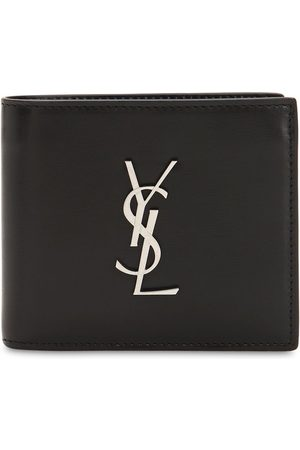 Saint Laurent Men Wallets - East/west Logo Leather Wallet