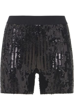 JUNYA WATANABE Women Shorts - Nylon Sequin Embroidery Mini Shorts