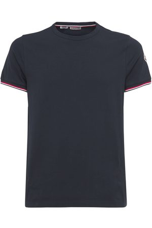 Moncler Men T-shirts - Stretch Cotton Jersey T-shirt