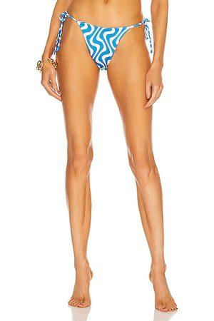 AEXAE For FWRD Tyra Tie Side Bikini Bottom in Copacabana