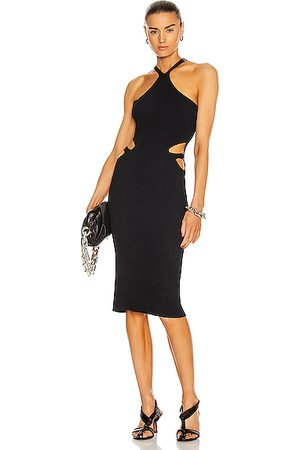 DION LEE Lustrate Fork Dress in & Ink