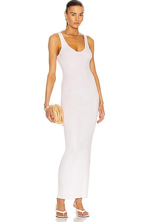 ENZA COSTA Silk Rib Ankle Length Tank Dress in