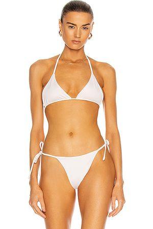 AEXAE Tyra Tie Neck Bikini Top in