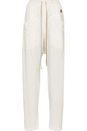 Rick Owens Women Cargo Trousers - DRKSHDW cotton cargo sweatpants