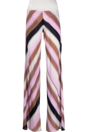 Rick Owens Stripe-print flared trousers