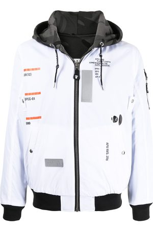 AAPE BY A BATHING APE Logo-print hooded jacket