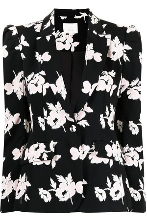 Cinq A Sept Floral print single-breasted blazer