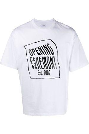 Opening Ceremony Men Short Sleeve - Warped-logo T-shirt