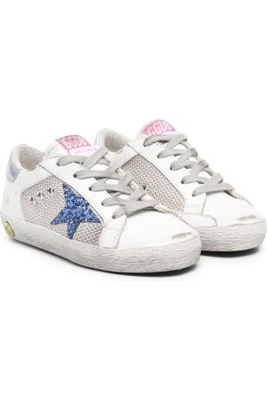 Golden Goose Boys Sneakers - Signature star-patch lace-up sneakers