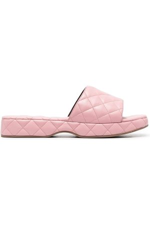 By Far Quilted slip-on sandals