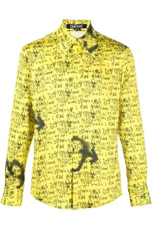 SANKUANZ Long-sleeved graphic-print shirt