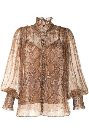 ZIMMERMANN Women Shirts - Botanica python-print blouse
