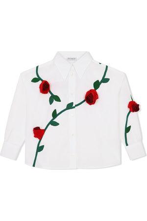 Dolce & Gabbana Rose-embroidered shirt