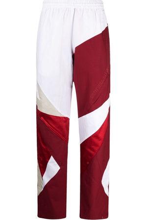 Reebok Colour-block cotton track pants