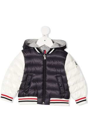 Moncler Striped-trim padded jacket