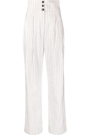 Serafini Pinstripe-print trousers