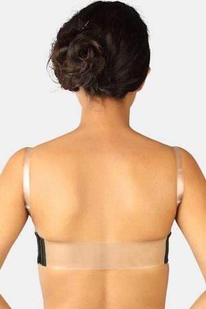 Triumph Women Padded Bras - T Shirt Bra 101 Invisible Wired Half Cup Padded Detachable Multioptional Transparent Backless Party Bra