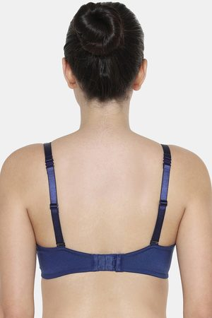 Triumph Fancy T Shirt Bra Invisible Padded Wireless Body Make Up Series Full Coverage And Comfort Bra Deep Water