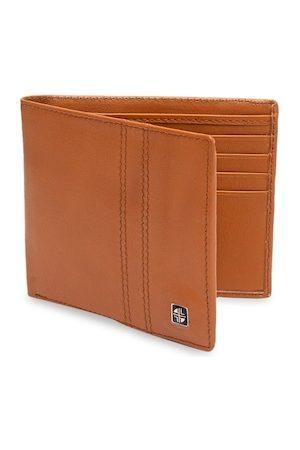 Carlton London Men Tan Solid Two Fold Wallet