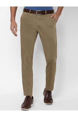 Allen Solly Men Khaki Slim Fit Solid Regular Plus Size Trousers