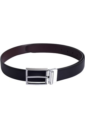 Lino Perros Men Black Solid Leather Belt
