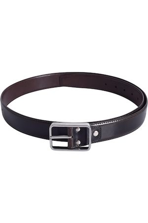 Lino Perros Men Brown Solid Leather Belt