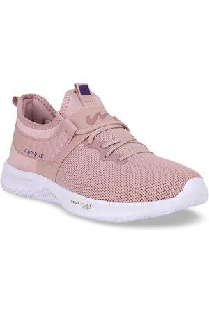 Campus Women Peach-Coloured Mesh Running Shoes