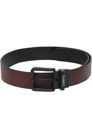 Levi's Men Brown Textured Reversible Leather Belt