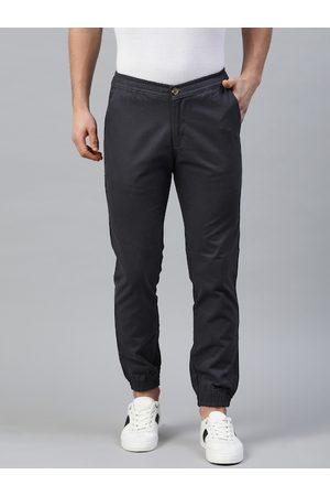 Hubberholme Men Navy Blue Slim Fit Solid Joggers