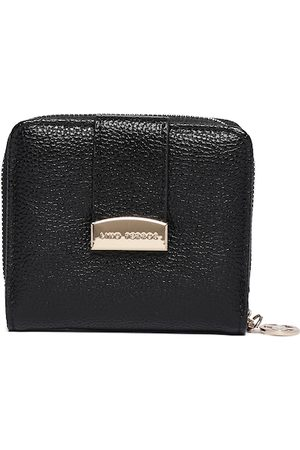 Lino Perros Women Black Solid Zip Around Wallet