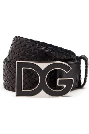 Dolce & Gabbana Men Belts - DG buckle interwoven belt