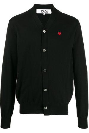 Comme des Garçons Men Cardigans - Heart logo V-neck cardigan