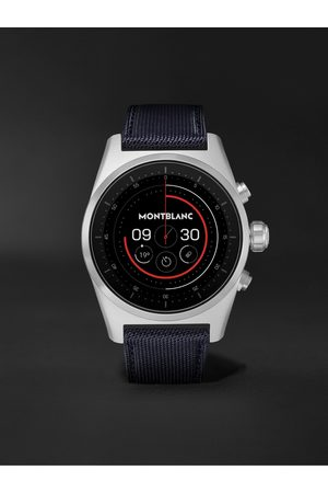 Mont Blanc Men Watches - Summit Lite 43mm Aluminium and Nylon Smart Watch, Ref. No. 128411