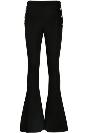 Balmain Knitted flared trousers