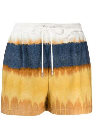 Alberta Ferretti Tie-dye track shorts