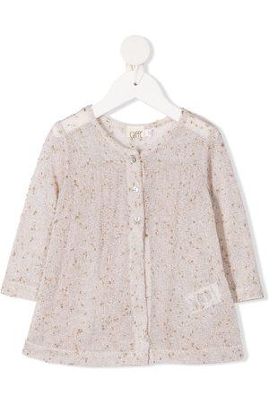 Caffe' D'orzo Melissa metallic-thread blouse