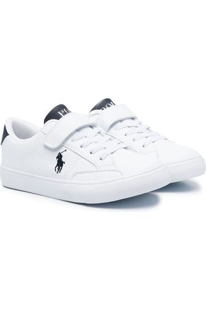 Ralph Lauren Embroidered logo touch-strap sneakers