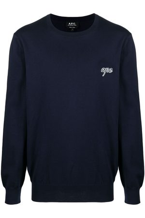 A.P.C. Men Jumpers - Logo crew-neck jumper
