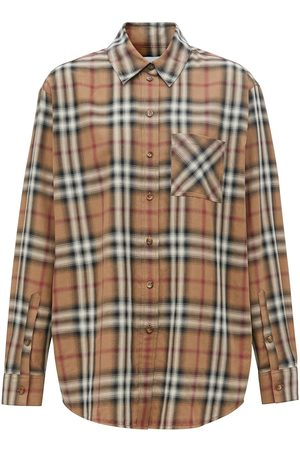 Burberry Ombré check cotton twill shirt