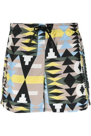 MARCELO BURLON Men Swim Shorts - Navaho swimming shorts